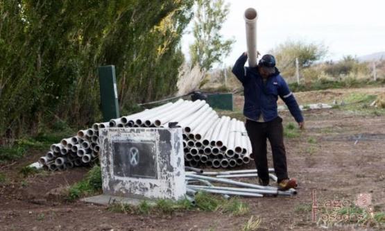 Servicios Públicos realizó trabajos en la planta de residuos cloacales