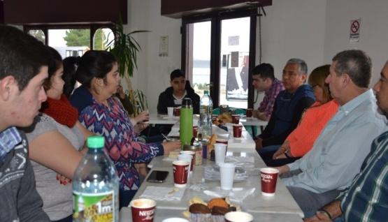 Jorge Soloaga se reunió con los flamantes soberanos