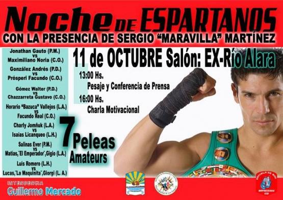 """Sergio """"Maravilla"""" Martínez en Los Antiguos"""